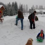 Sněhová hromada byla opravdu úžasná